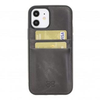 Flex Cover Back Leder Case mit Kartenfach für iPhone 12 & Pro