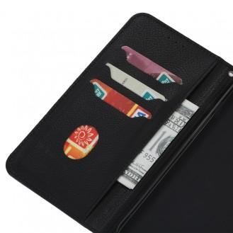Samsung Galaxy S20 FE Magnetic Flip Leder Case mit Holder & Card Slots & Wallet Schwarz