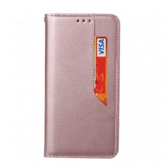Galaxy S20 FE Magnetic Flip Leder Case mit Holder & Card Slots & Wallet Rose Gold