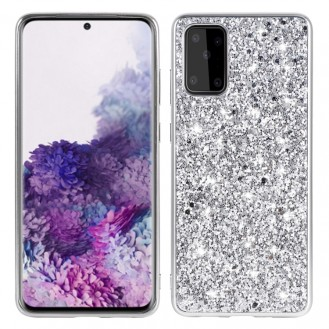 Samsung Galaxy S20 FE Glitter Powder Shockproof TPU Protective Case Silber