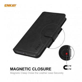 Samsung Galaxy S20 FE / S20 Lite Magnetic Flip Leder Case mit Holder & Card Slots & Wallet Schwarz
