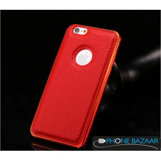 More about Aluminium Bumper Case Leder Back Cover iPhone 6 Rot