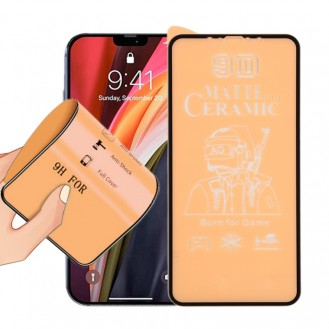 iPhone 12 Pro Max 9D Full Screen Full Glass Frosted Ceramic Folio
