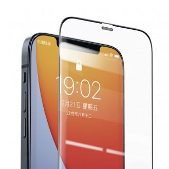 Max Benks V Hochauflösend, explosionsgeschützt und stoßfest Tempered Glass Metall Staubdichtes für iPhone 12 Pro Max