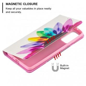 Galaxy S20 FE Magnetic Flip Leder Case mit Holder & Card Slots & Wallet Sun Flower