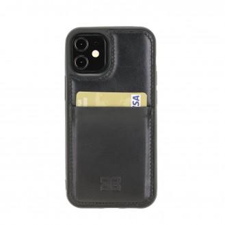 Bouletta Flex Cover Back Leder Case für iPhone 12 mini Schwarz