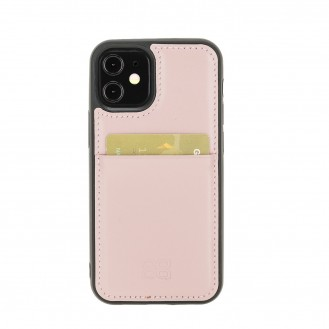 Bouletta Flex Cover Back Leder Case für iPhone 12 mini Nude Pink