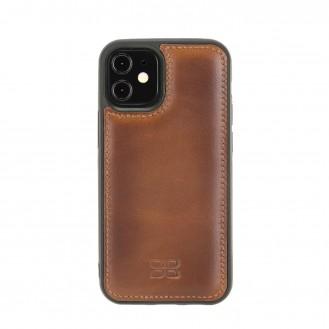 Bouletta Flex Cover Back Leder Case für iPhone 12 mini Rustic Tan with Effect