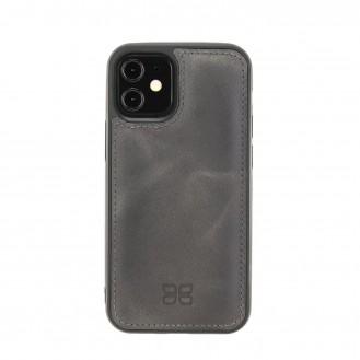 Bouletta Flex Cover Back Leder Case für iPhone 12 mini Tiana Tan with Effect