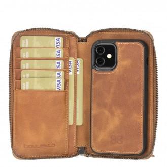 Bouletta Pouch Magnetische abnehmbare Case mit RFID für iPhone 12 mini Fiesta Tan