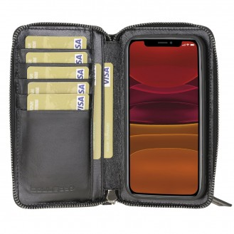 Bouletta Pouch Magnetische abnehmbare Case mit RFID für iPhone 12 mini Rustic Black