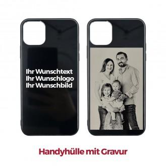 iPhone 11 Pro Max Handyhülle mit Gravur (Foto, Logo ein Wunschtext)