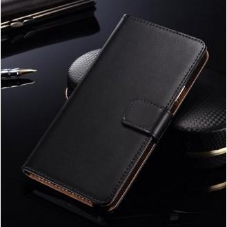 Schwarz Leder Kreditkarte Etui Samsung Galaxy S6