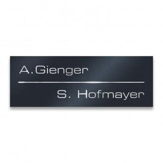 Türschild Edelstahl mit Gravur   80 x 25 mm Namensschild