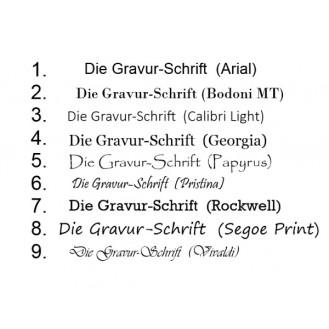 Türschild Edelstahl mit Gravur | 80 x 25 mm Namensschild