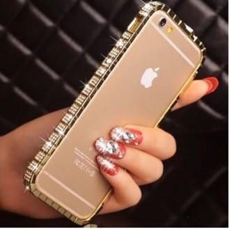 More about Luxus Aluminium Gold Bling Bumper Strass iPhone 6 Plus/ 6S Plus