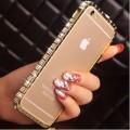 Luxus Aluminium Gold Bling Bumper Strass iPhone 6 Plus/ 6S Plus