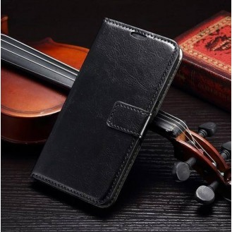 Leder Schwarz Kreditkarte Etui Samsung Galaxy S6