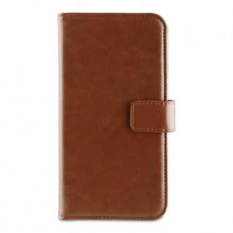 Book Case Wallet Tasche für Apple iPhone Xr, Braun