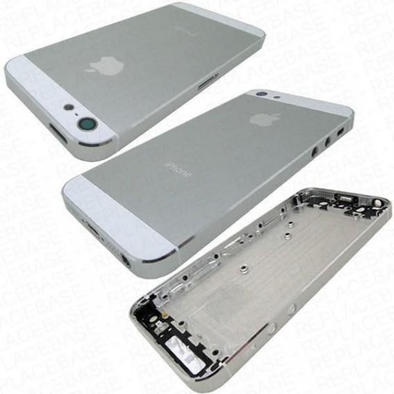 iPhone 5 Alu Backcover Rückseite Weiss (ohne vorm)
