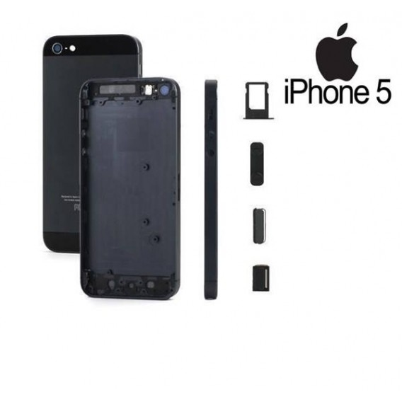 iPhone 5 Alu Backcover Rückseite Schwarz (ohne vorm)