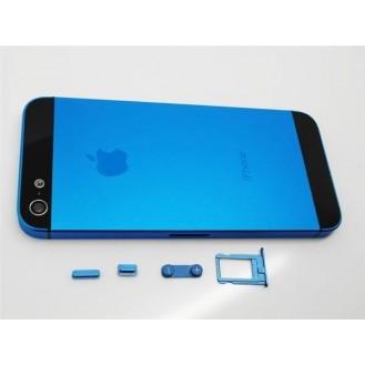 iPhone 5 Alu Backcover Rückseite Blau Schwarz (ohne vorm) A1428, A1429, A1442