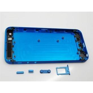 iPhone 5 Alu Backcover Rückseite Blau Schwarz (ohne vorm)