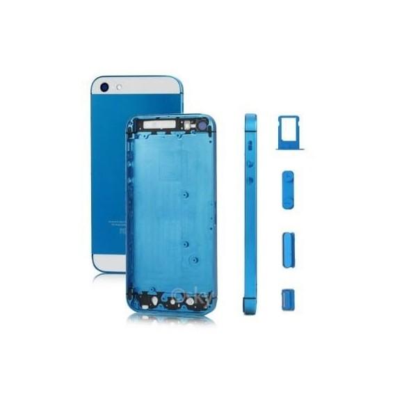 iPhone 5 Alu Backcover Rückseite Blau Weiss (ohne vorm)