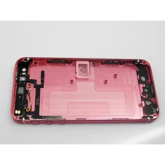 iPhone 5 Alu Backcover Rückseite Rosa Weiss