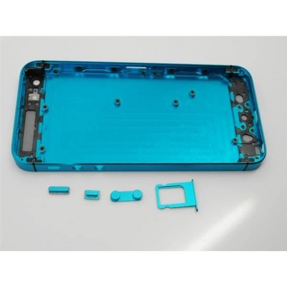 iPhone 5 Alu Backcover Rückseite Türkis