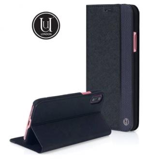 Uunique - iPhone Xs / X Flip Cover Folio Case Gunmetal (UUIP8WC007) - Schwarz