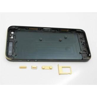 iPhone 5 Alu Backcover Rückseite Schwarz Gold