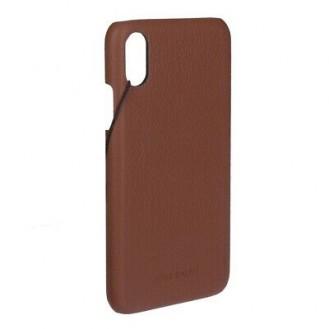 Mike Galeli - iPhone Xs / X Echtleder Hülle Back Case (LENNYIPX-M04) - Braun