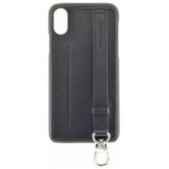 Mike Galeli - iPhone Xs / X Echtleder Hülle Back Case mit Handschlaufe und Kartenfach (JESSEIPX-M01) - Schwarz