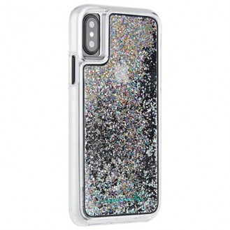 Case Mate - iPhone Xs / X Hardcase Hülle Naked Tough Waterfall - Transparent / Silber