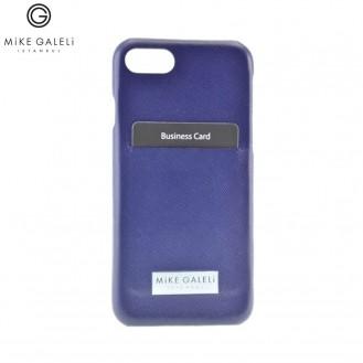 Mike Galeli - iPhone SE (2020) / 8 / 7 / 6S Echtleder Hülle Hand Made (ADAMSLIP7-04) - Blau