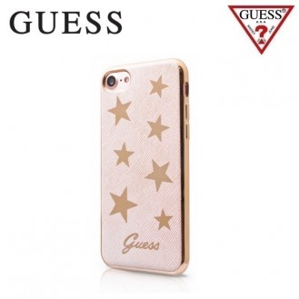 Guess - Handyhülle für iPhone SE / 8 / 7 - Case aus Silikon - Stars - GUHCP7STAPI Gold