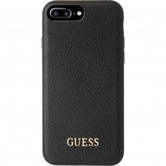 Guess - iPhone 8 Plus / 7 Plus / 6S Plus / 6 Plus Iridescent Leder Hardcase Hülle (GUHCP7LIGLBK) - Schwarz