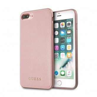 Guess - iPhone 8 Plus / 7 Plus / 6S Plus / 6 Plus Iridescent Leder Hardcase Hülle (GUHCP7LIGLRG) - Pink
