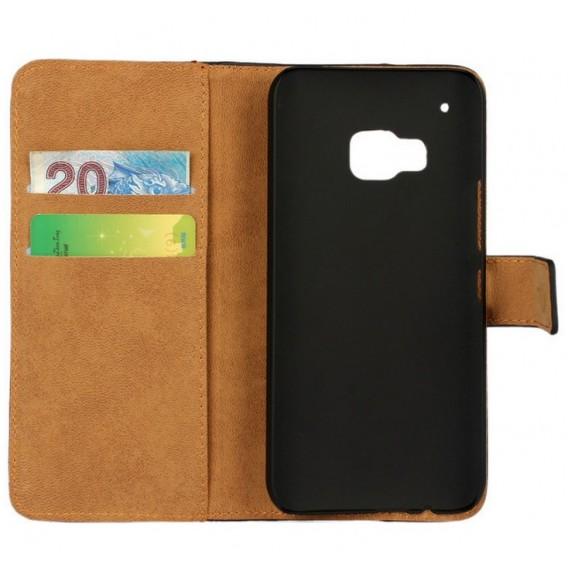 Schwarz Leder Kreditkarte Etui HTC One M9