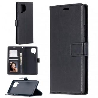 Galaxy A42 Leder Schwarz Kreditkarte Etui Bookcase