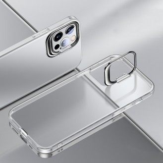 iPhone 12 Pro Max Ultradünne matte Standhülle Transparent