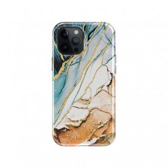 iPhone 12 und 12 Pro TPU Silikon Hülle Scarlet Marmor Khaki