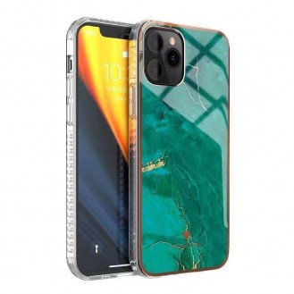 iPhone 12 und 12 Pro TPU Silikon Hülle Marmor Grün