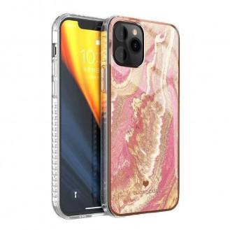 iPhone 12 und 12 Pro TPU Silikon Hülle Marmor Pink