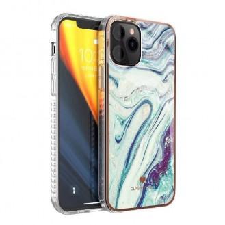 iPhone 12 und 12 Pro TPU Silikon Hülle Marmor Blau