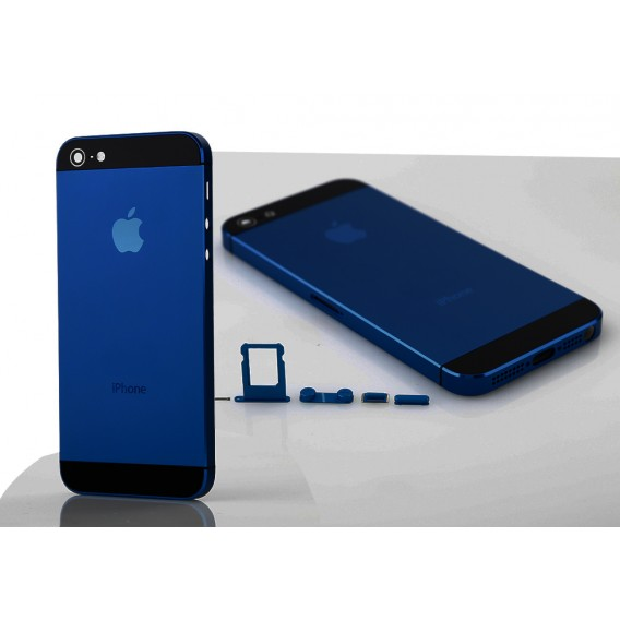 iPhone 5 Alu Backcover Rückseite Dunkel Blau