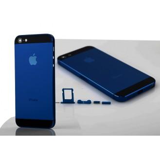 iPhone 5 Alu Backcover Rückseite Dunkel Blau A1428, A1429, A1442