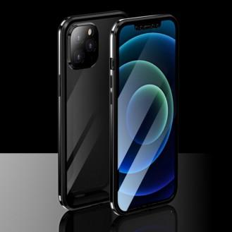 360 Grad Magnet Case Für iPhone 12 Pro Hülle mit Kameraschutz  Schwarz