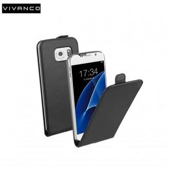 Samsung Galaxy S7 Flip Case Etui Schwarz